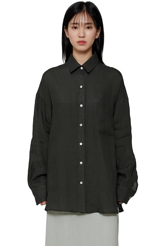 Organic linen two-way shirt
