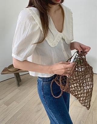 Mandy collar blouse