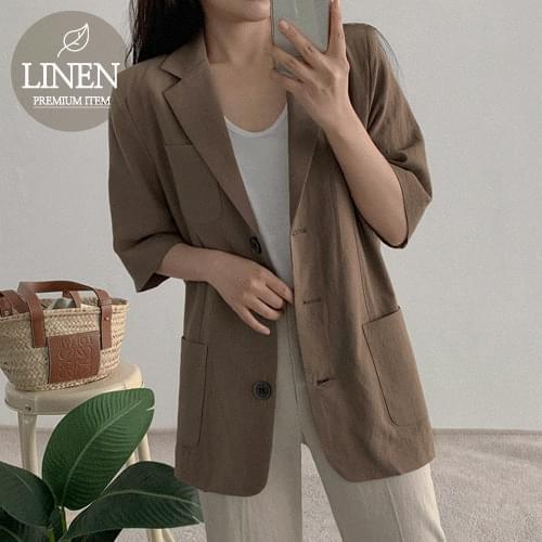 N Mill linen jacket