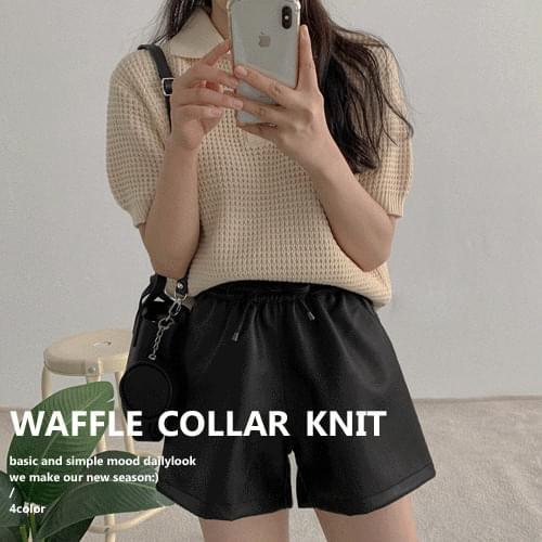 Waffle Short Sleeve Knitwear