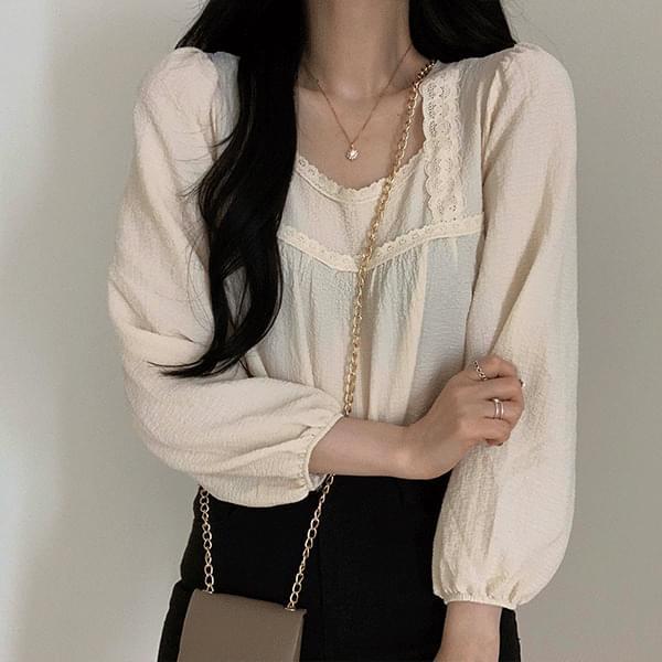 Innocent square lace blouse