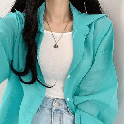 Pastel cool summer balloon sleeve shirt