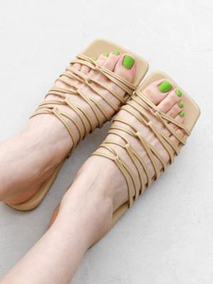 Isshu Unique Go Wrist Wrap Low Heel Slippers 7069