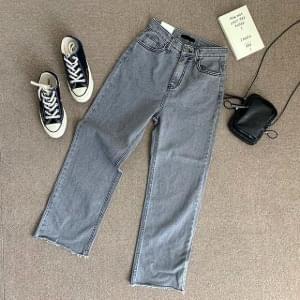 Undercut Gray Denim Pants