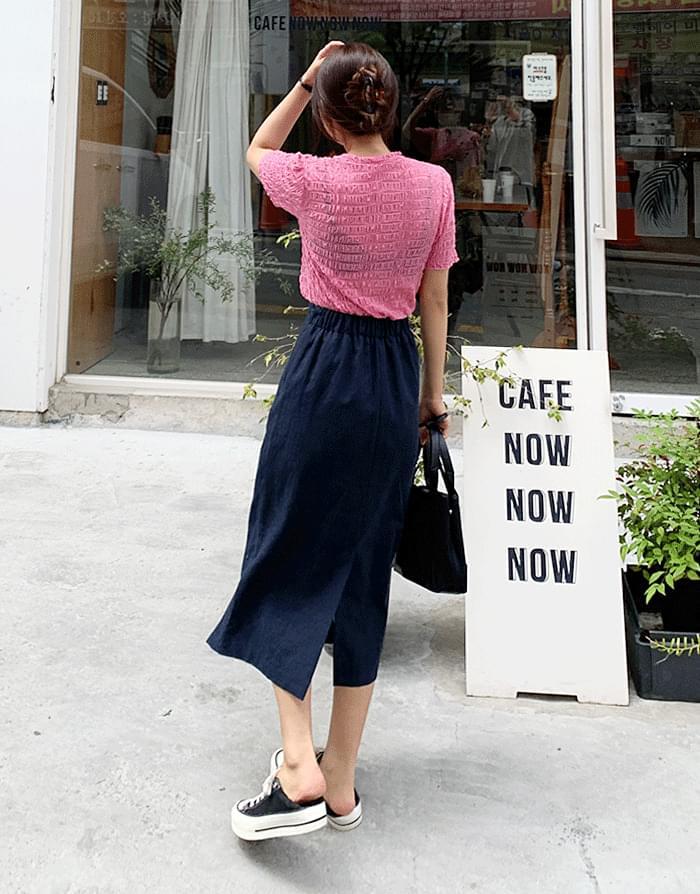 Lusha linen skirt