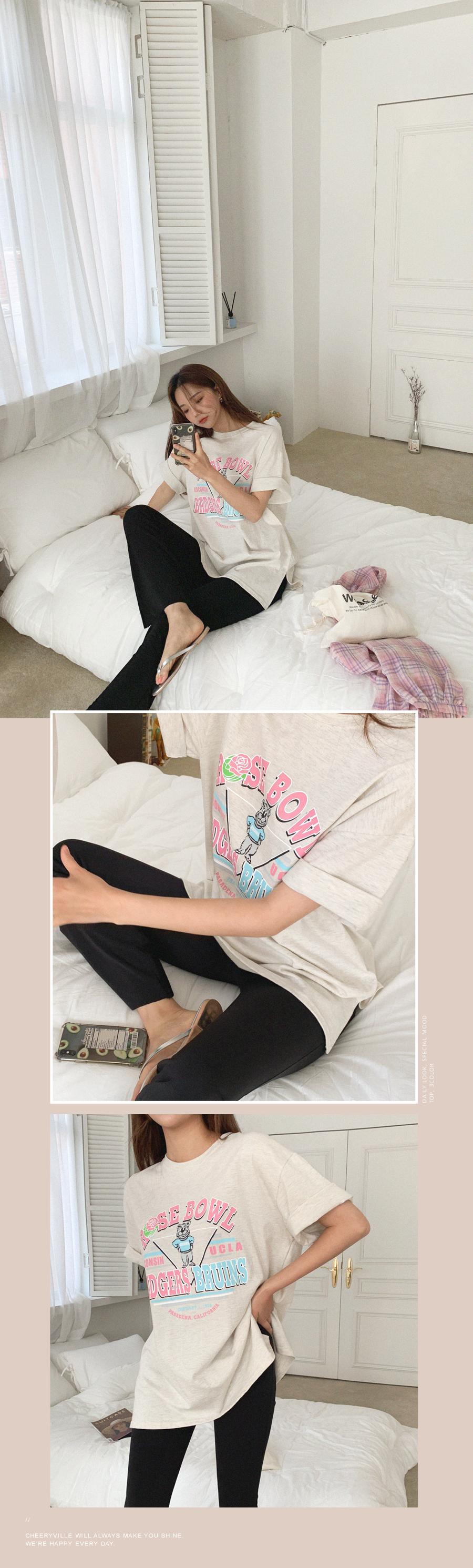 Cute Bear Loose-fit Short Sleeve T-Shirt