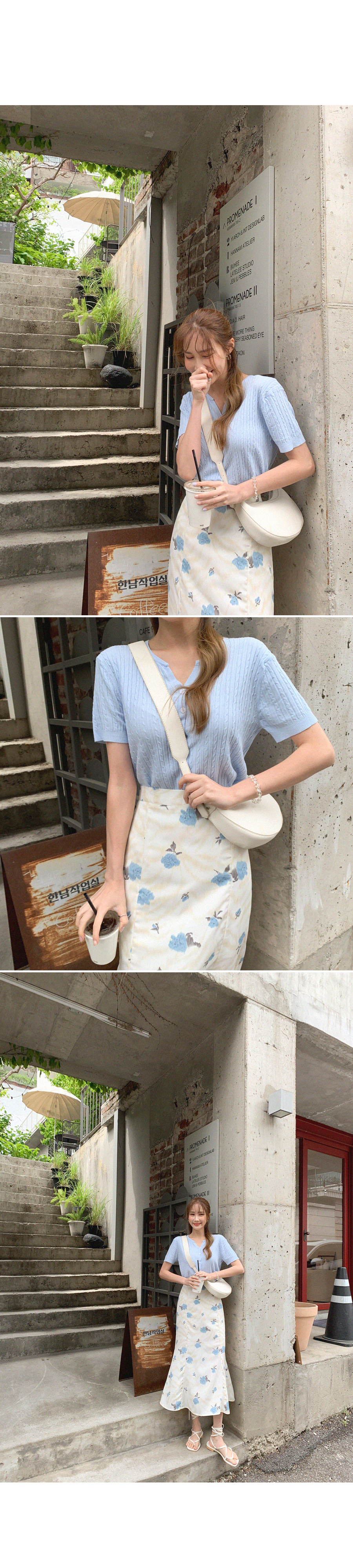 One-day short-sleeved cardigan