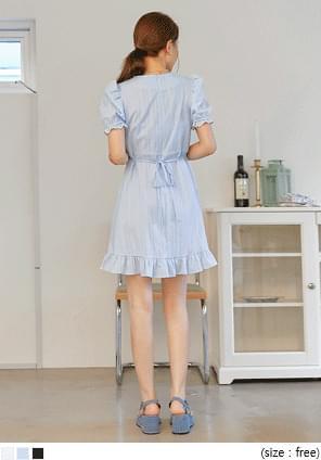 Frill Trim A-Line Dress