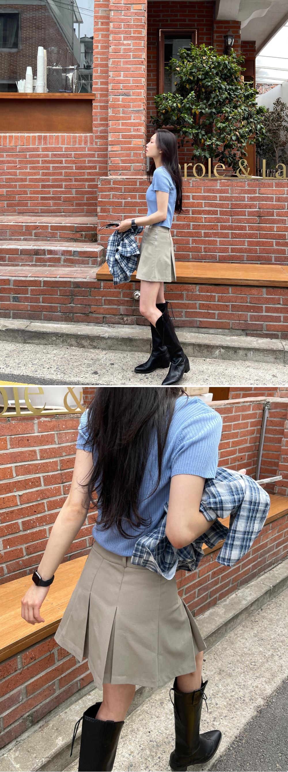 Tellin pleated mini skirt