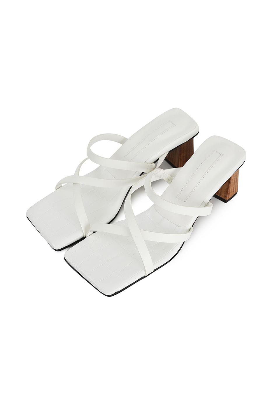 Scotch animal pattern middle-heel sandals