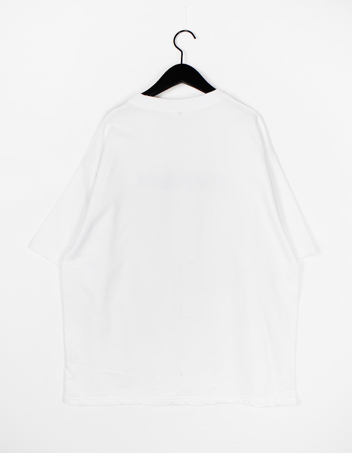 반팔 티셔츠 화이트 색상 이미지-S1L31
