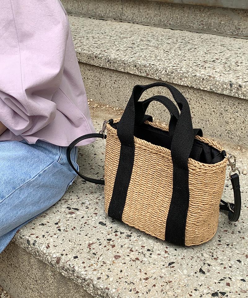 Picnic Rattan Tote & Shoulder Bag