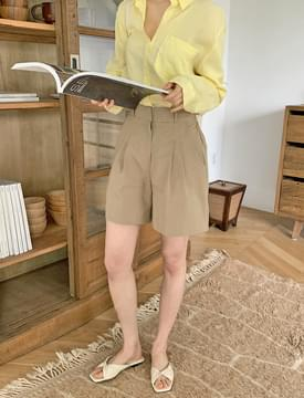 Rachel Pintuck Banding Half Pants