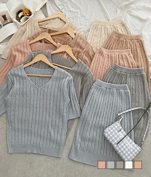 Female Protagonist Knitwear Two-Piece Set
