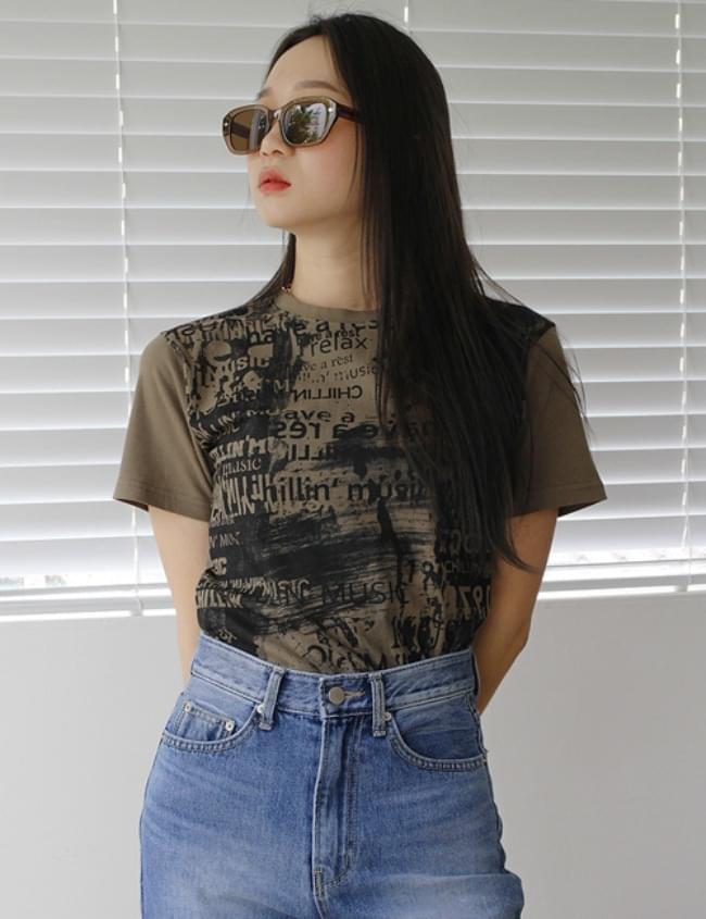Music cropped T-shirt