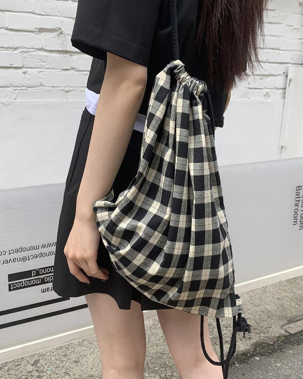 Clage Vintage Check Gymsack Backpack