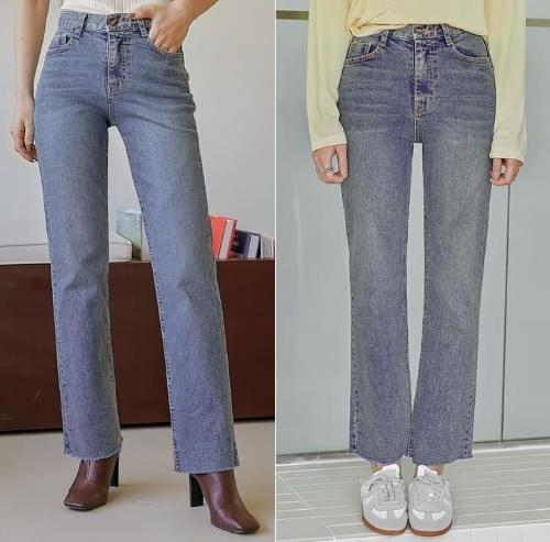 Raw Hem Loose Jeans