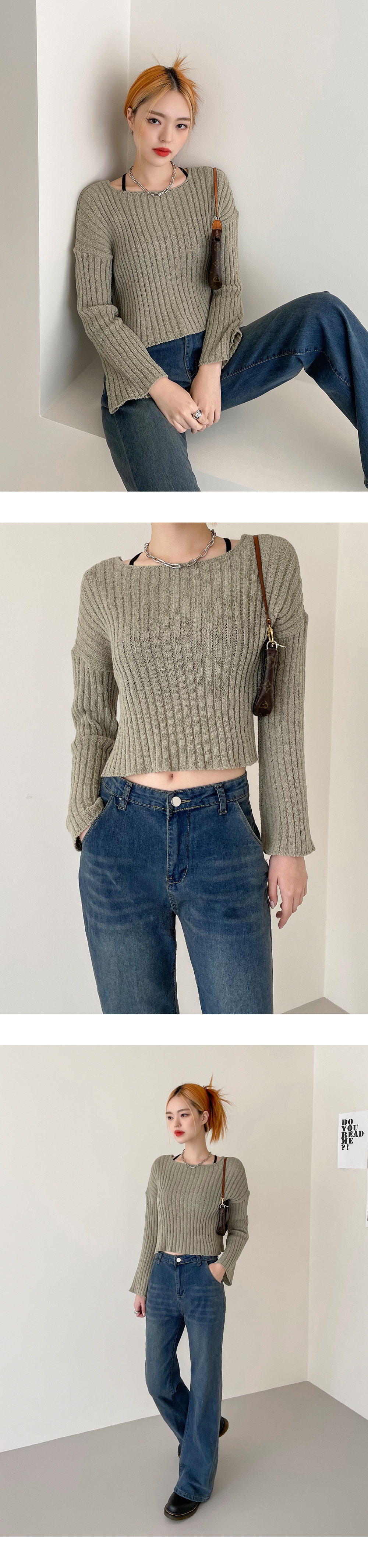 Beaming Book Crop Knitwear