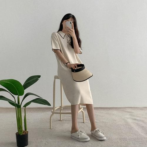 Arene Knitwear Short Sleeve Dress