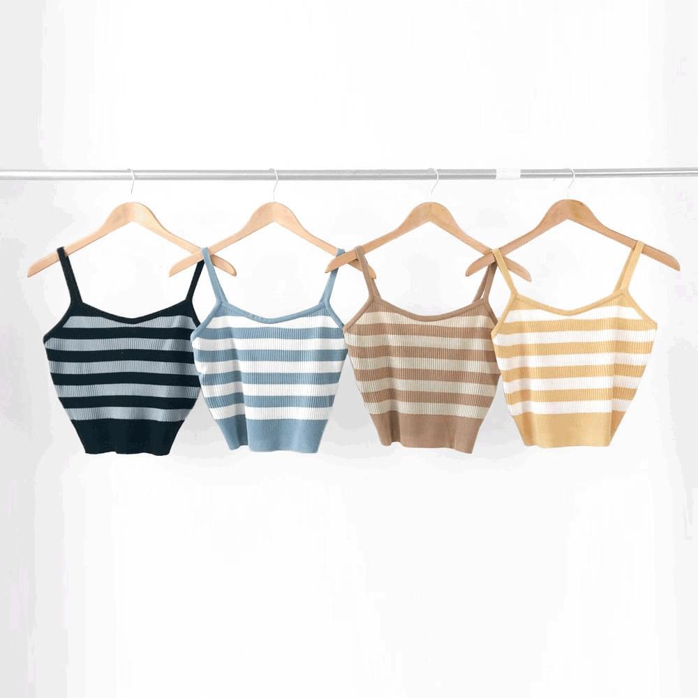 BB Striped Bustier Knitwear