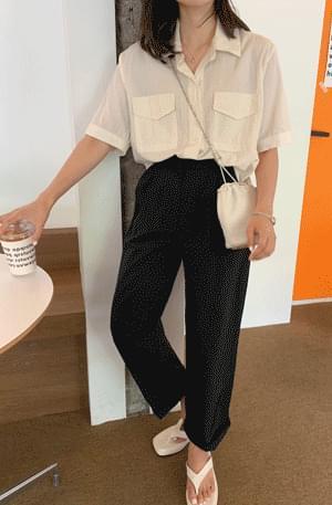 Washer Boxy-fit Pocket Short Sleeve Shirt