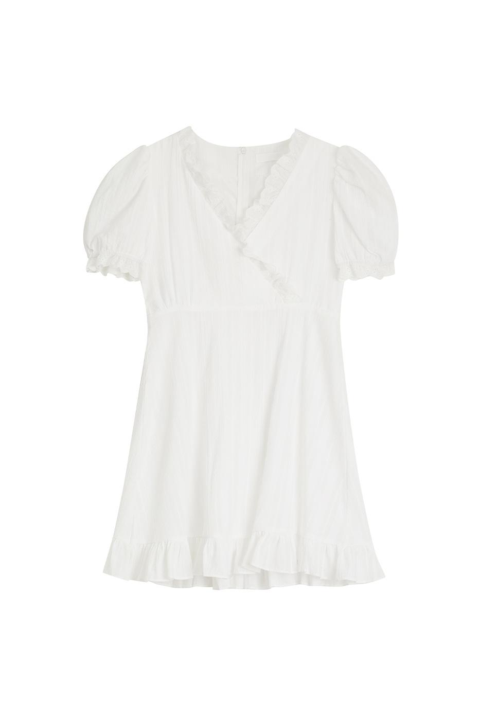 Date frill mini dress