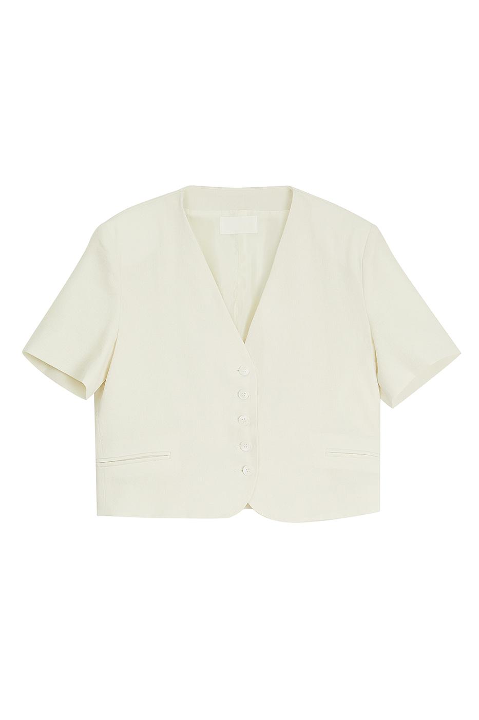 Blanc half crop blazer