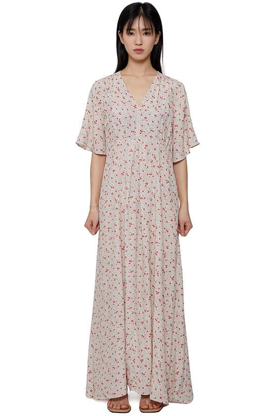 London flower long dress