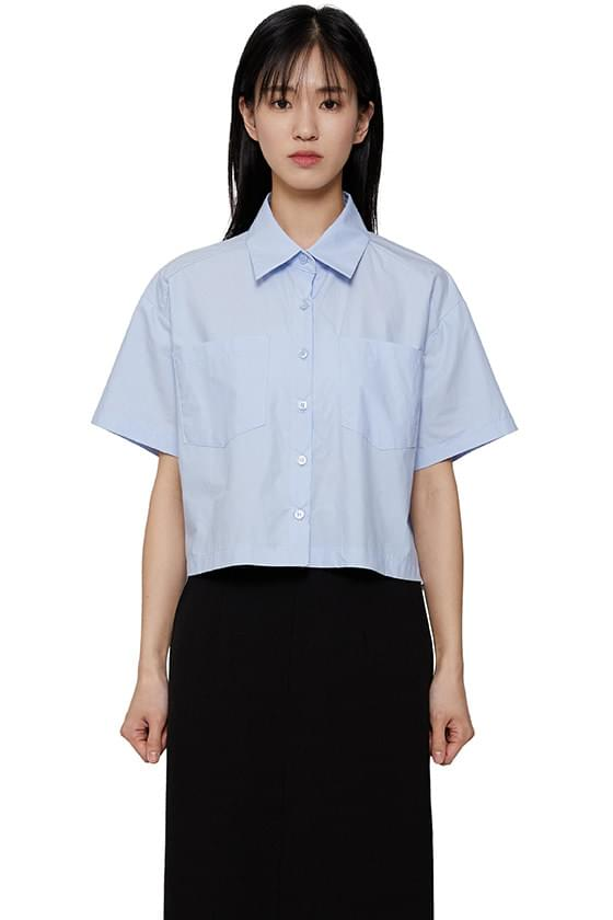 Awesome cotton cropped shirt