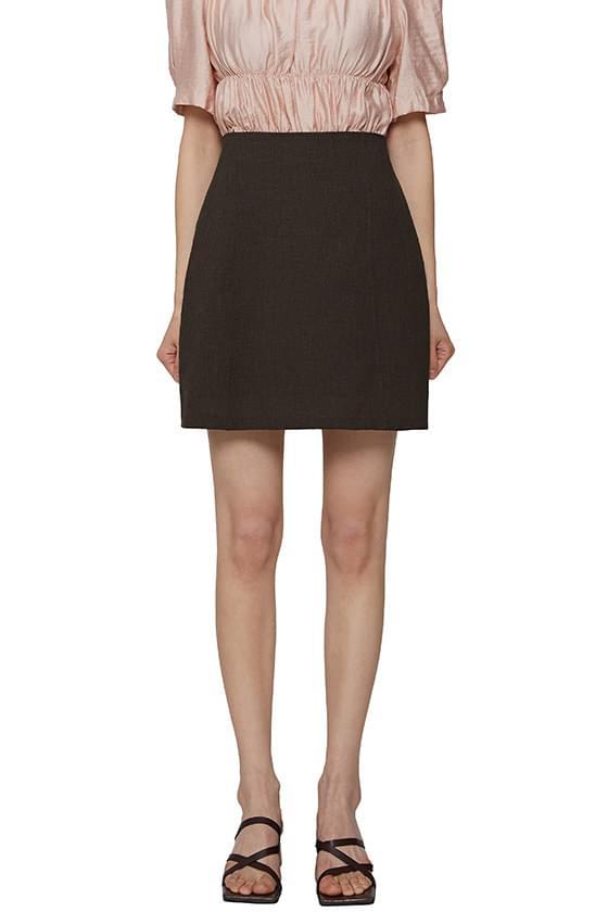Blanc short skirt