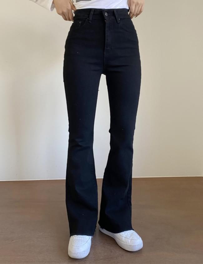 long black Flared pants