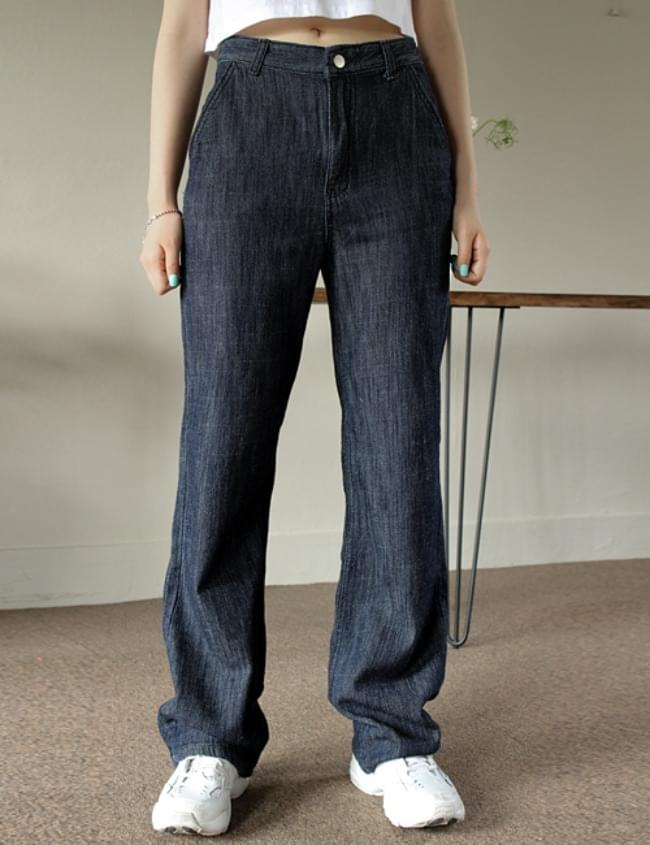 韓國空運 - no.297 Summer Raw wide pants 牛仔褲