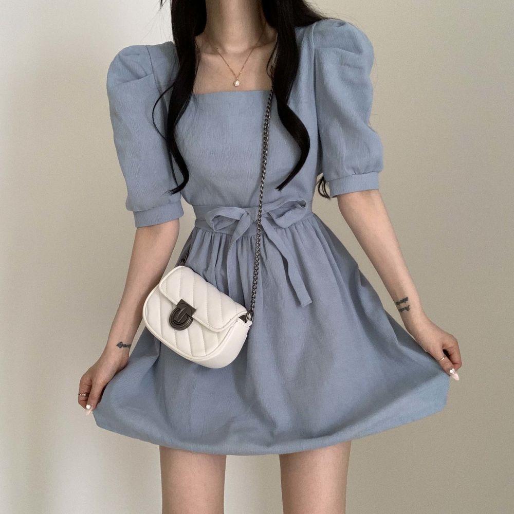 Puff square Dress