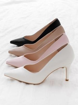 Isshu pointed nose V cut stiletto high heel pumps 2522