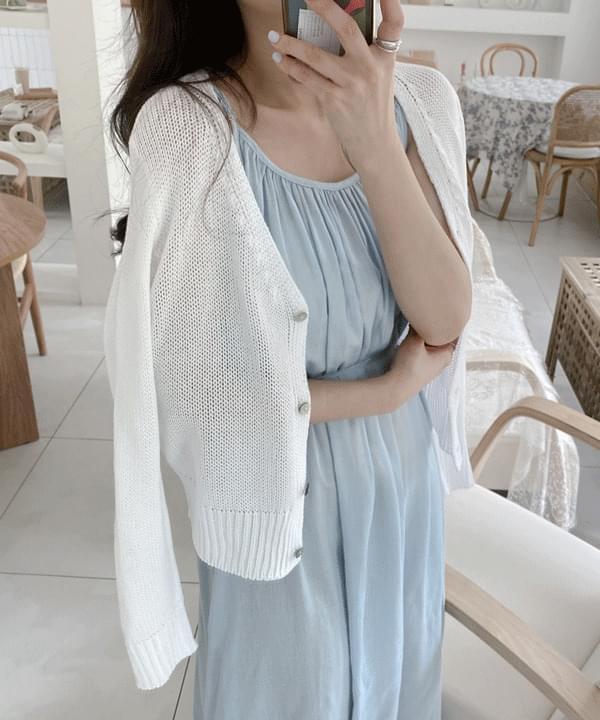 Mits' Summer Cotton Knitwear Cardigan