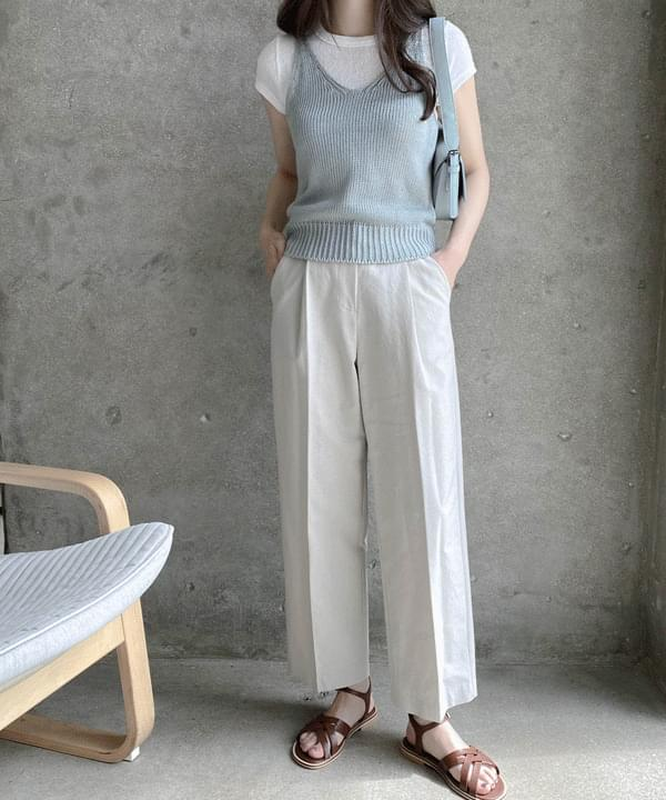 Mits' Summer Cotton Knitwear Sleeveless