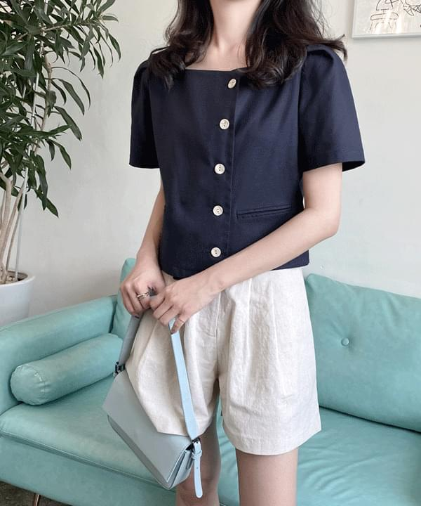 Ricotta linen button blouse