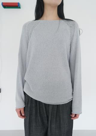 raglan droop knit