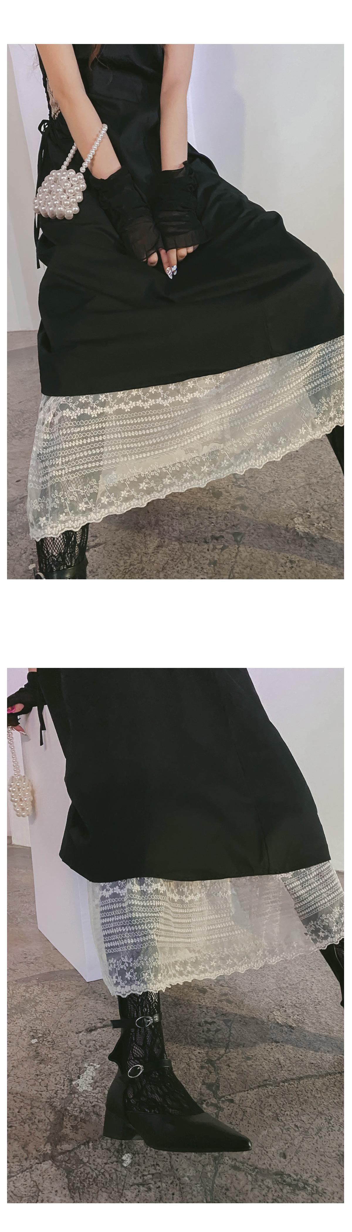 Shirring Athena Long Dress