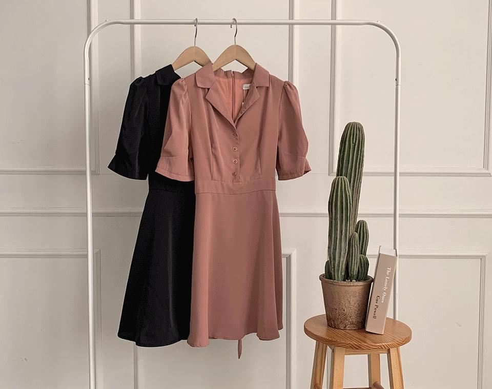 Panic collarneck mini Dress