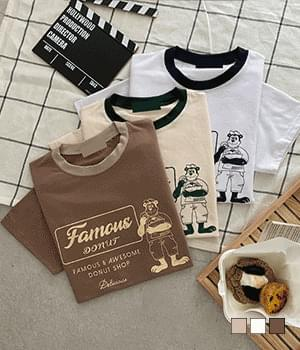 Raccoon Color Tencel Short Sleeve T-Shirt