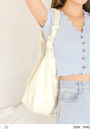 JENRI STRING SHIRRING SHOULDER BAG