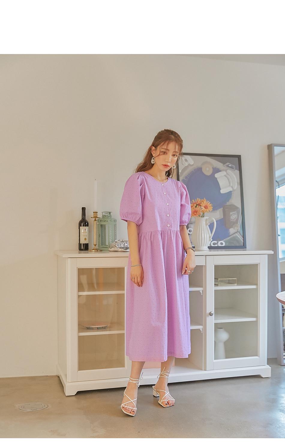 Ditsy Pattern Reversible Dress