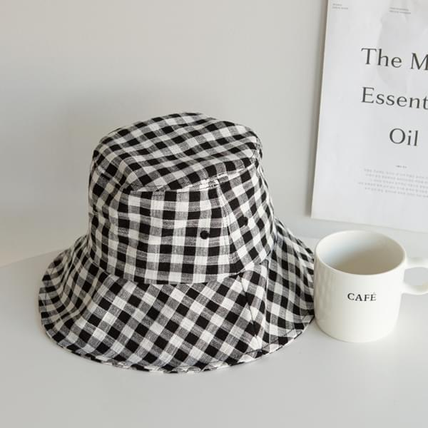 Glam Check Bungalow Hat #86541
