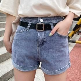 Square roll-up short pants