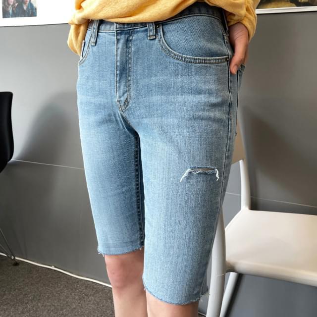 Daon cut 5 part denim pants