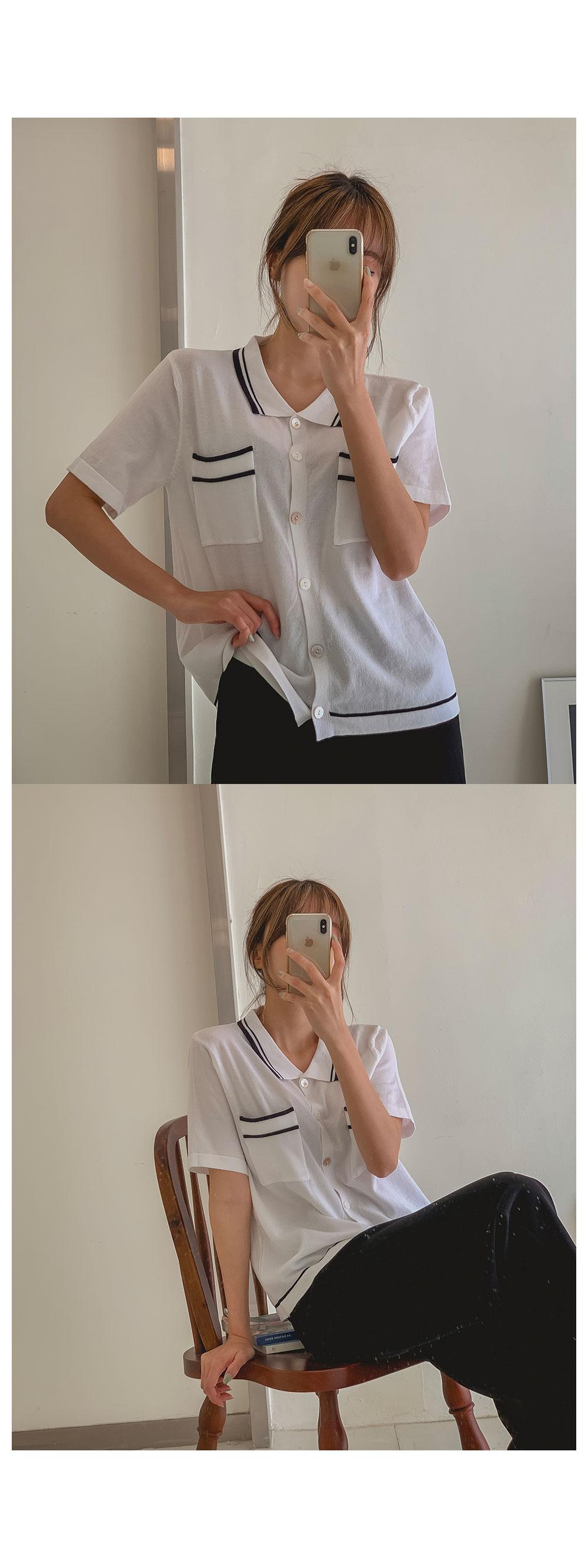 Life Collar Knitwear Cardigan