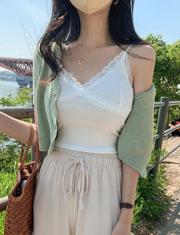 Summer wave crop cardigan
