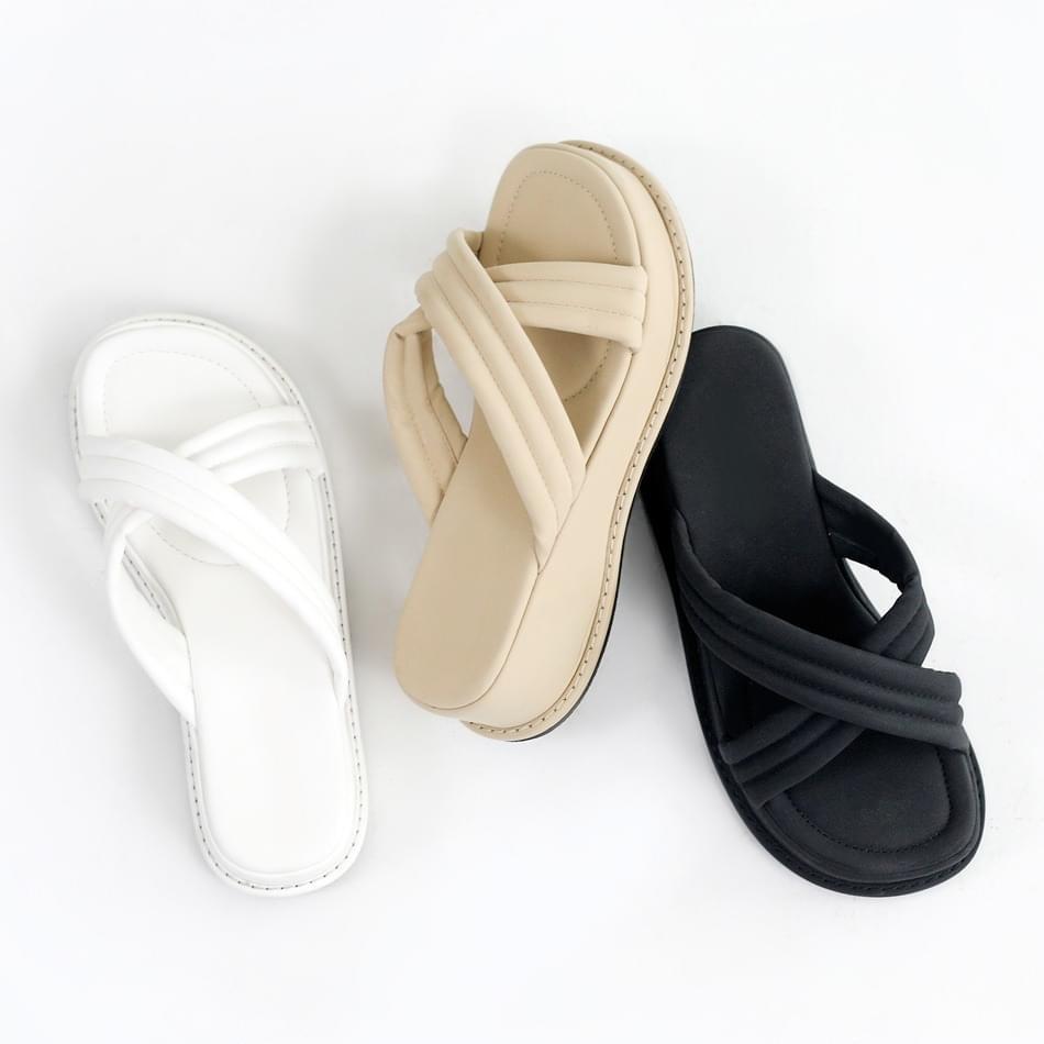 Warm-up heel slippers 5cm