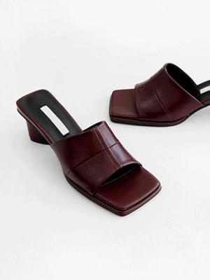 Square Mule Slippers 5cm